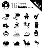 Basic - icone cibo — Vettoriale Stock