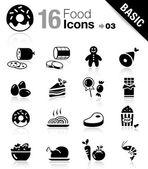 Základní - potraviny ikony — Stock vektor