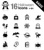 Basic - halloween pictogrammen — Stockvector