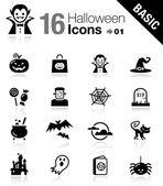 Basic - iconos de halloween — Vector de stock