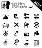 Basic - icônes de l'hôtel — Vecteur