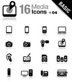 Basic - Media Icons — Stock Vector