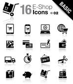 Base - shopping icônes — Vecteur