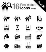 Basic - Real estate icons — Stock vektor