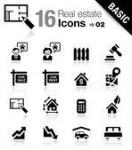 Basic - immobiliare icone — Vettoriale Stock
