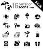 Basic - iconos de vacaciones — Vector de stock
