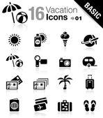 Basic - iconos de vacaciones — Vector de stock