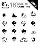 Basic - Weather icons — Stok Vektör