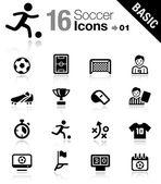 Basic - icone soccer — Vettoriale Stock