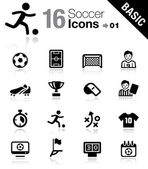 Basic - iconos del fútbol — Vector de stock