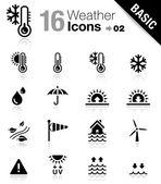 базовая комплектация - иконы погоды — Cтоковый вектор