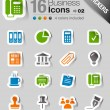 Stickers - Office and Business icons — Stock Vector #15325889