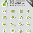 Stickers - Ecological Icons — Stock Vector #15325923