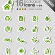 Stickers - Ecological Icons — Stock Vector