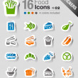 Stickers - Food Icons — Stock Vector #15325989