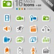Stickers - Media Icons — Stock Vector