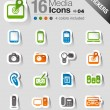 Stickers - Media Icons — Stock Vector #15326037