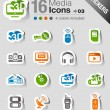 Royalty-Free Stock Vector Image: Stickers - Media Icons