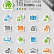 Royalty-Free Stock Vector Image: Stickers - Real estate icons