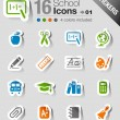 Stickers - School Icons - Stock Vector