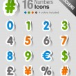 Stickers - Numbers — Vector de stock #15326129