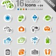 Royalty-Free Stock Vector Image: Stickers - Vacation icons