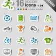 Stickers - Soccer Icons — Stock Vector #15326183