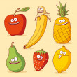 Stock Vector: Funny fruits