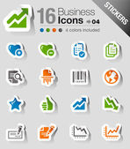 Stickers - Office and Business icons — Vector de stock