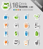 Stickers - Drink Icons — Stock Vector