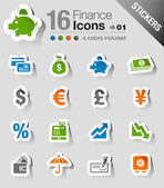 Stickers - Finance icons — Stock Vector