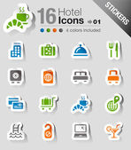 Stickers - hotel pictogrammen — Stockvector