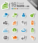 Stickers - Food Icons — Stock Vector