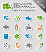 Stickers - Medical icons — Stock Vector