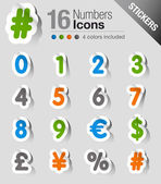 Stickers - Numbers — Vector de stock