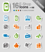 Stickers - Shopping icons — Stockvector