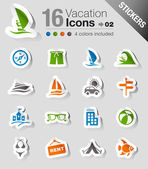 Stickers - Vacation icons — Stock Vector