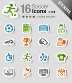 Stickers - Soccer Icons — Stock Vector