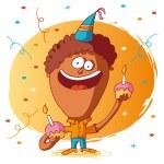 Happy birthday - cake — Stock Vector #15331751