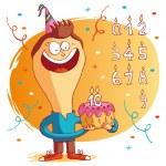 Happy birthday - cake — Stock Vector #15331757