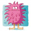 Funny bacteria / funny monster — Stock Vector