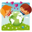 Love our planet — Stock Vector #15533105