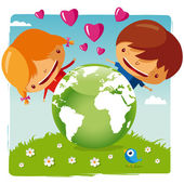 Love our planet — Stock Vector