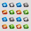 Royalty-Free Stock Imagem Vetorial: Cut Squares - Soccer Web Icons