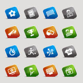 Cut Squares - Soccer Web Icons — Vector de stock