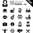 Basic - Airport and Travel icons — Stock Vector