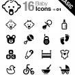 Stock Vector: Basic - Baby icons