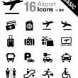 Basic - Airport and Travel icons — Stock Vector #25693061