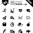 Royalty-Free Stock Vectorielle: Basic - Health and Fitness icons
