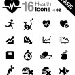 Royalty-Free Stock Immagine Vettoriale: Basic - Health and Fitness icons